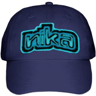 Cap with Nika's Logo-Navy Blue
