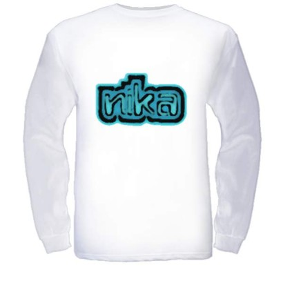 Long Sleeve shirt with Nika Logo-White