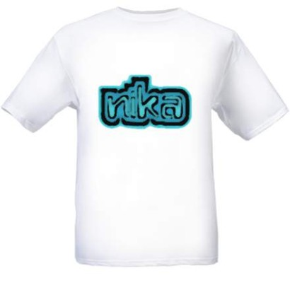 T-Shirt with Logo-White